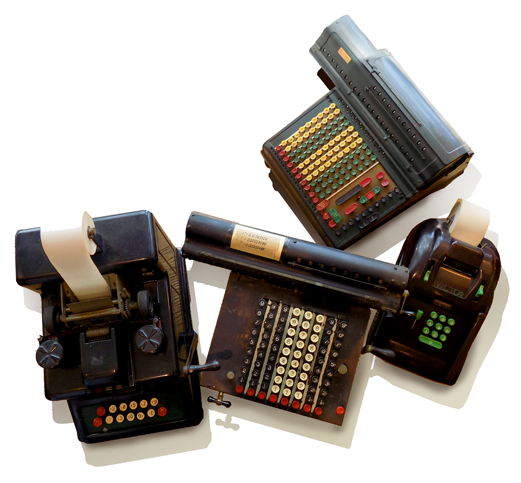 Vintage Adding Machines at Marz Bazaar Gifts in South Pasadena